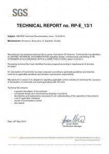 Certifikat - Filteri PED verifikacija (SGS)
