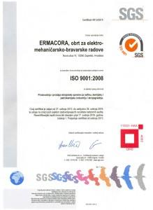 Certifikat - ISO 9001 (SGS)