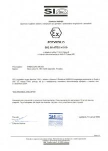 Certifikat - SIQ Sigurnosna zaklopka
